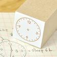 アナログ時計スタンプ:12時間:Mサイズ:ゴシック・サンセリフ
