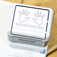 両手のスタンプ:手の平・甲チェックとメモ欄付き:浸透印